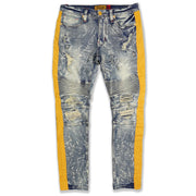 M1950 Makobi Biker Jeans w/ Nylon Stripes - Dirt