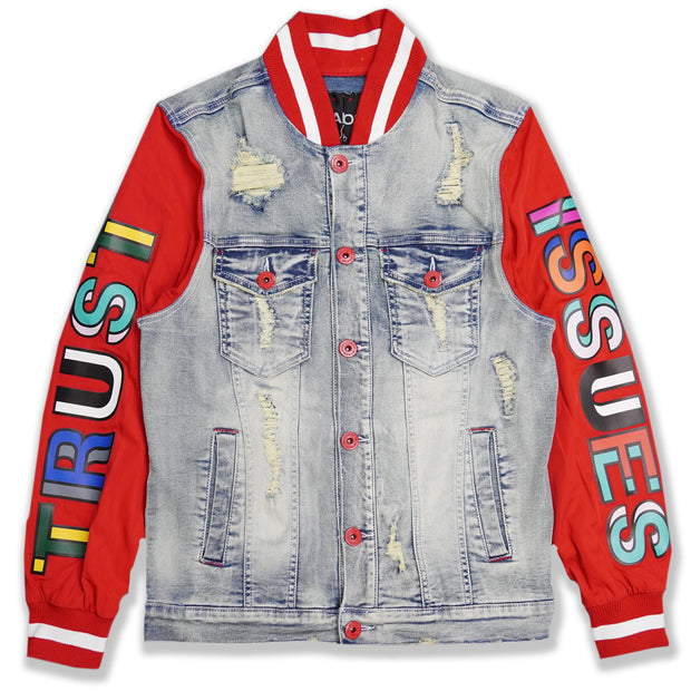 M1050 Makobi Trust Issues Denim Jacket - Light wash
