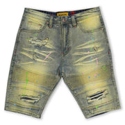 M650 WILLARD BIKER JEANS W/ PAINT SPLASH - DIRT