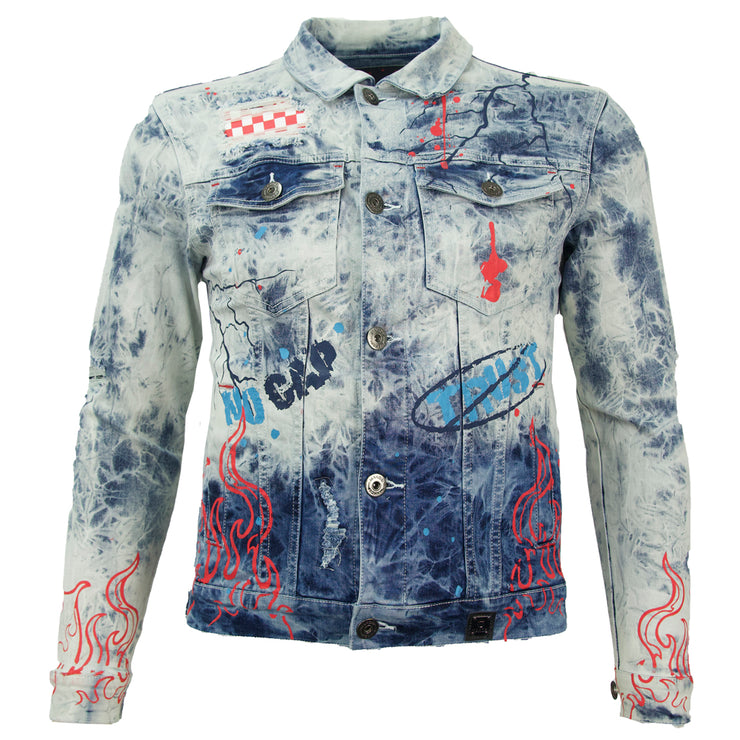 M1052 Makobi Fire Denim Jacket - Light Wash