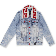 M1062 MAKOBI DENIM JACKET W/ SHERPA COLLAR - LIGHT WASH