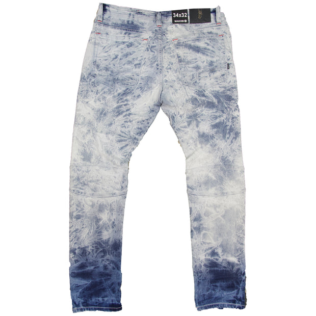 M1952 Makobi Fire Shredded Jeans - Light Wash
