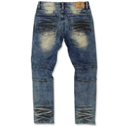 M1983 MAKOBI DESTIN BIKER JEANS - DIRT WASH