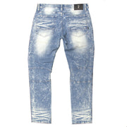 M1983 MAKOBI DESTIN BIKER JEANS - LIGHT WASH