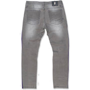M1986 Ozarks Shredded Jeans w/ Side Tapes - Grey