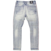 M1986 Ozarks Shredded Jeans w/ Side Tapes - Light wash