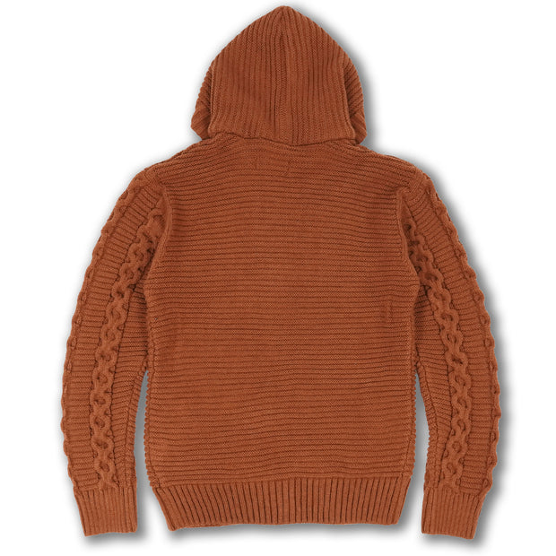 M4070 Makobi Heavy Gauge Hoody Sweater - Golden Brown