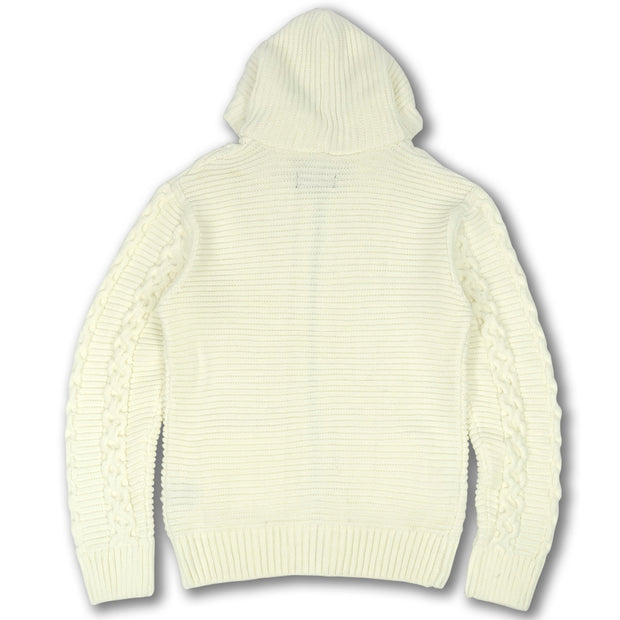 M4070 Makobi Heavy Gauge Hoody Sweater - Natural