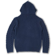 M4070 Makobi Heavy Gauge Hoody Sweater - Navy
