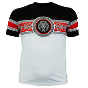 M550 MAKOBI LION GREEK KEY SHIRT SET-UP WHITE