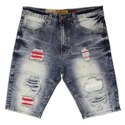 M748 MAKOBI HERMOSA SHREDDED SHORTS - DIRT WASH - SHORTS