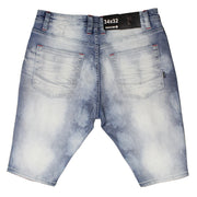 M748 MAKOBI HERMOSA SHREDDED SHORTS - LIGHT WASH - SHORTS