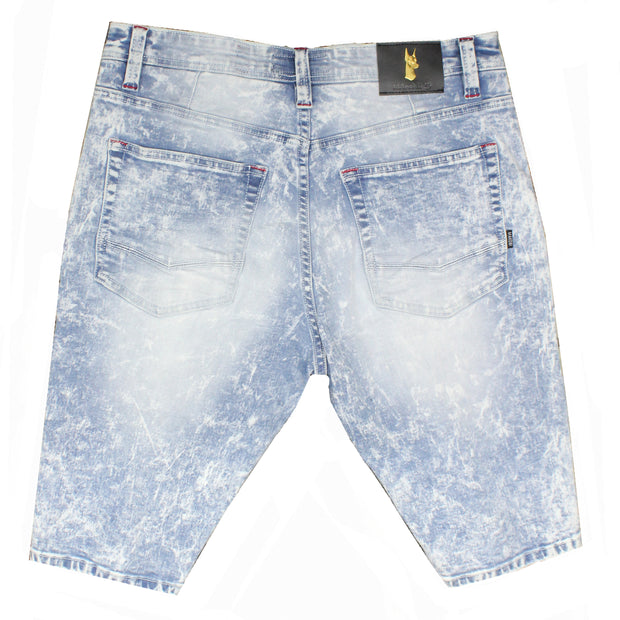 M749 MAKOBI MANHATTAN SHORTS - LIGHT WASH