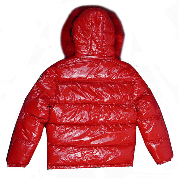 M7700  Skittles Puffer Jacket - Red