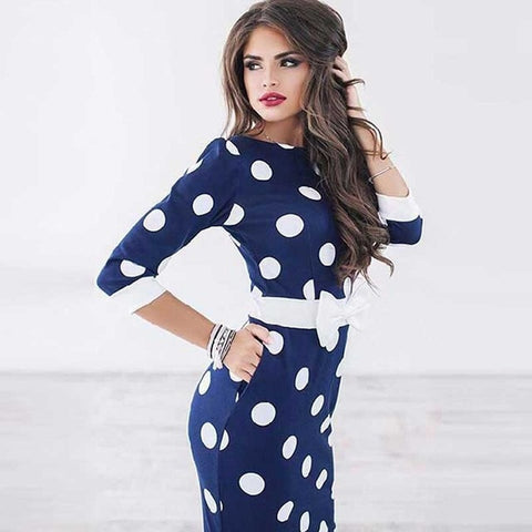 Darlene Polka Dots Dress