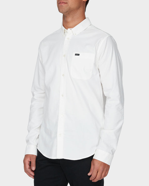 RVCA Mens Thatll Do Stretch LS Shirt