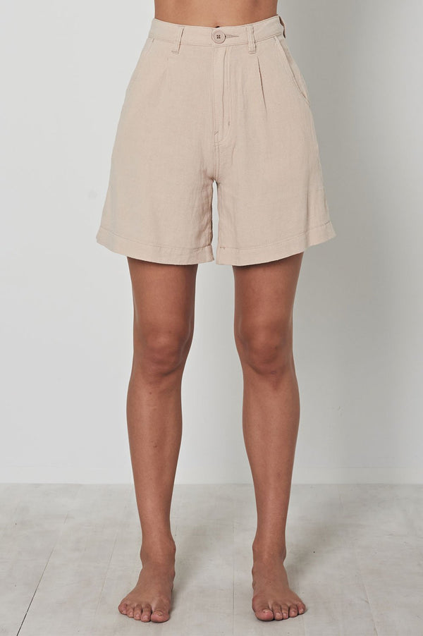 Rollas Ladies Horizon Linen Shorts - Front