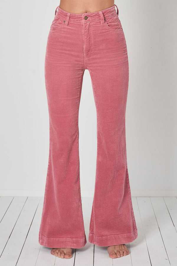 Ladies Rollas Eastcoast Crop Flare Jeans - Front