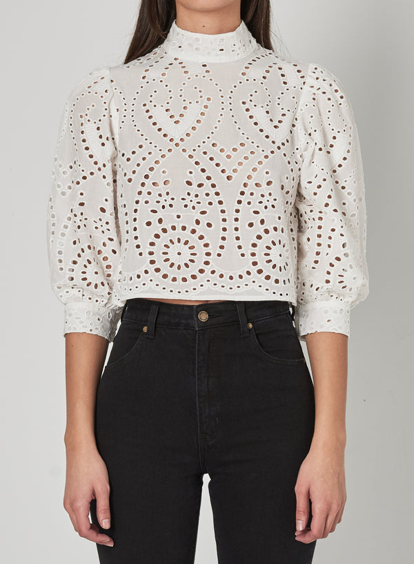 Rollas Ladies Stephanie Lace Blouse