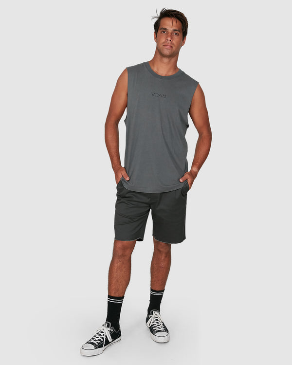 RVCA Mens Mini Flipped Muscle Tee