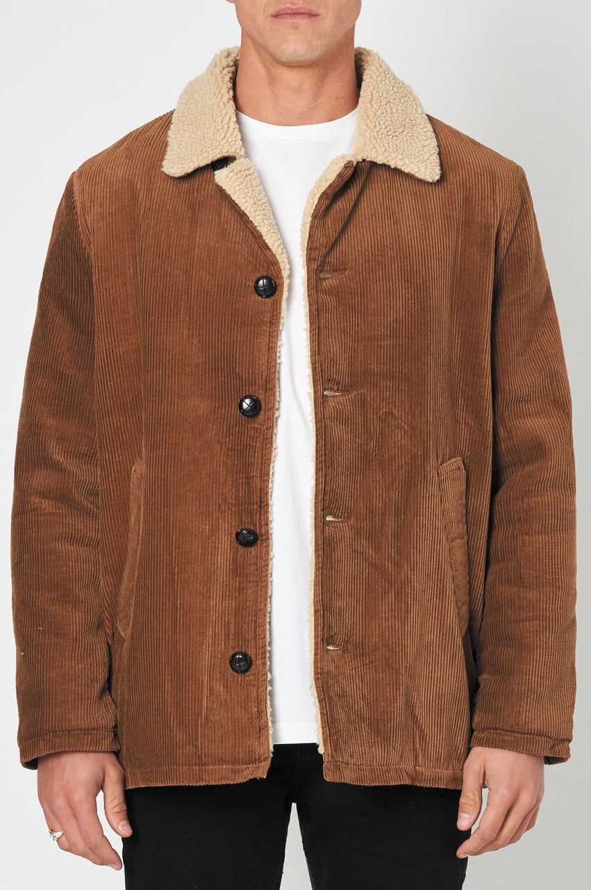 Rollas Old Mate Sherpa Coat - Front