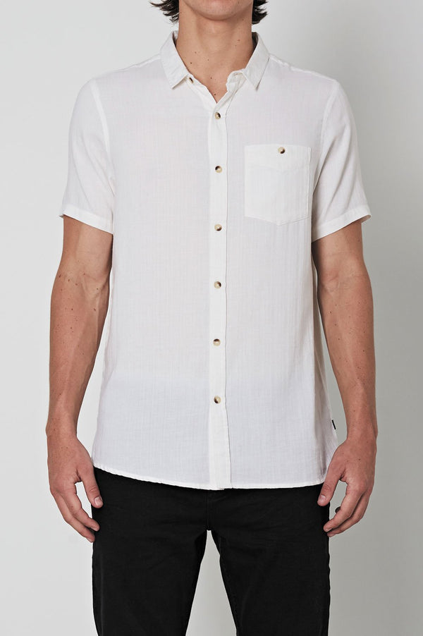 Rollas Men At Work Herringbone SS Shirt - Front
