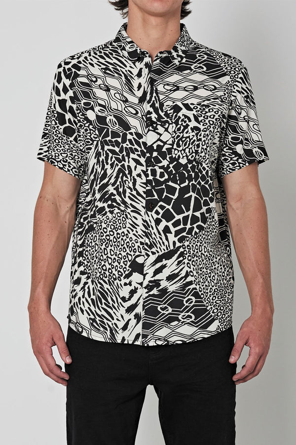 Rollas Mens Bon Party Animal SS Shirt - Front