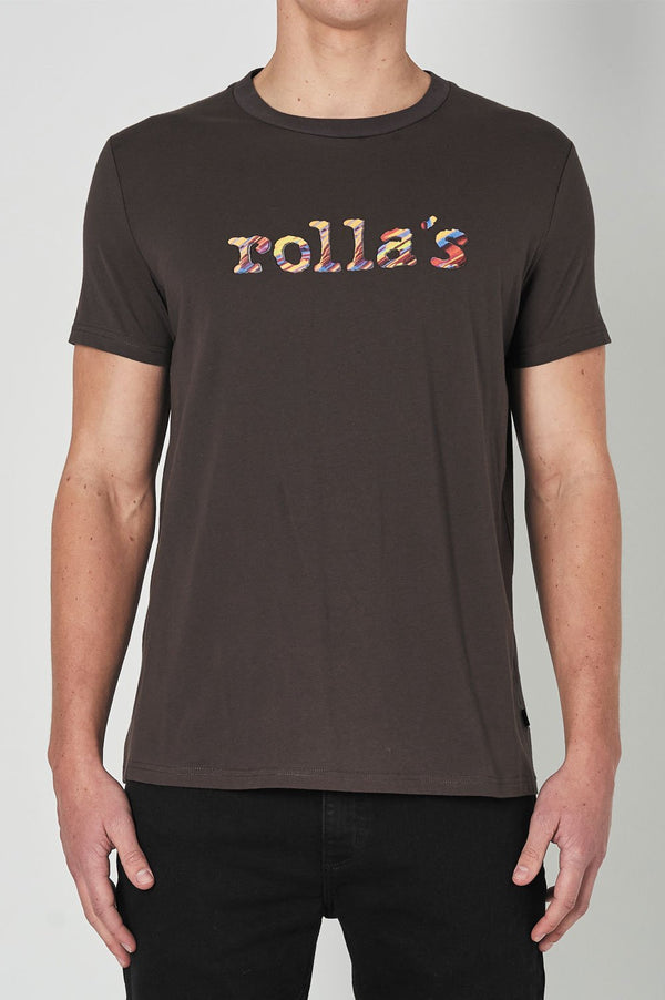Rollas Mens Rainbow Serpent SS Tee - Front