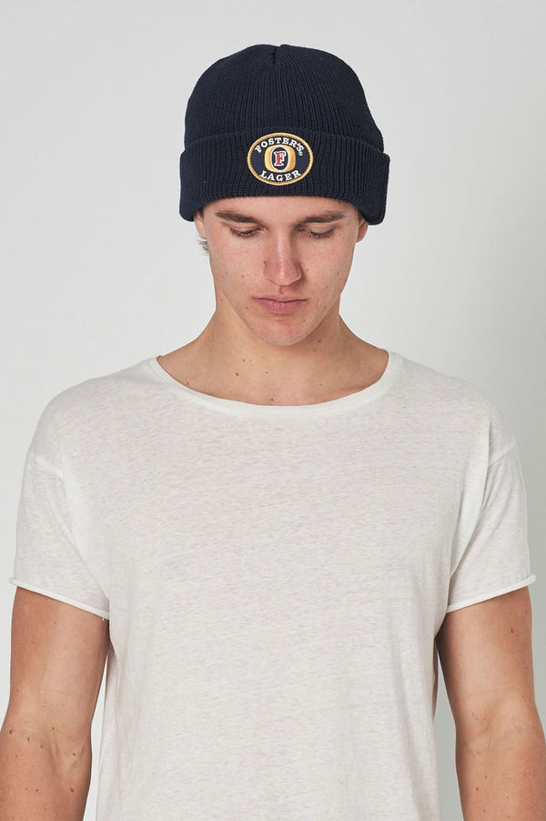 Rollas Mens Fosters Lager Beanie - Front