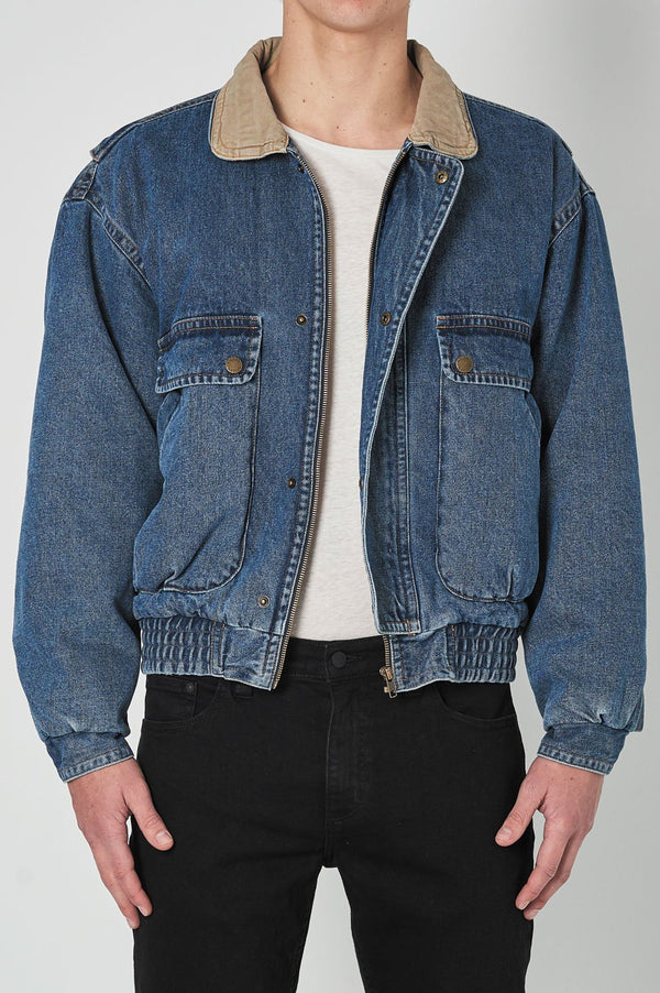 Rollas Mens Lazy Boy Denim Jacket - Front