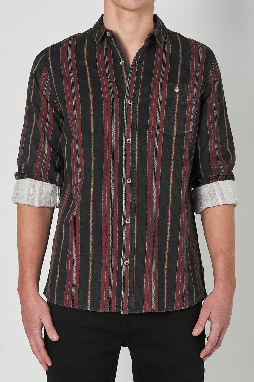 Rollas Mens Men At Work LS Shirt - Front