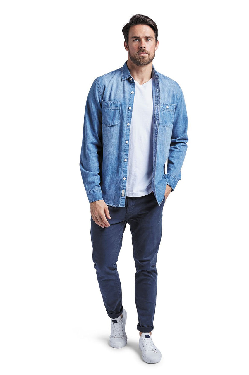 Academy Denim Worker Shirt - Front