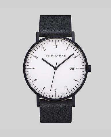 The Horse D-Series Watch- Black/White/Black
