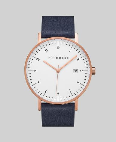 The Horse D-Series Watch- Rose Gold/White/Navy