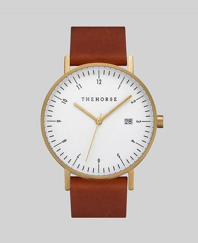 The Horse D Watch- Gold/White/Coffee