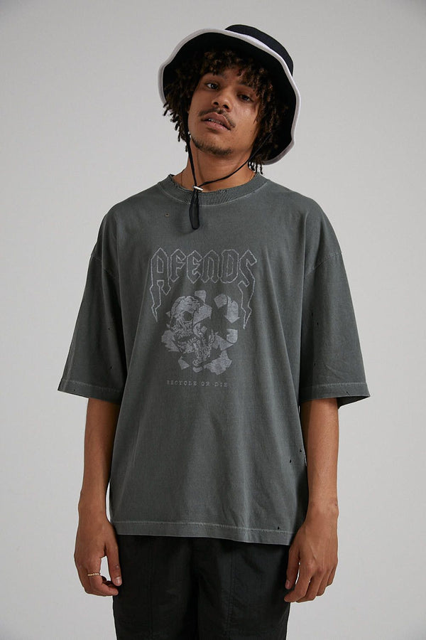 Afends Mens Recycle Or Die SS Tee