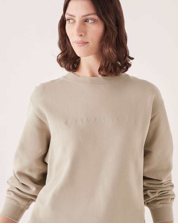 Assembly Label Ladies Embroided Logo Crew