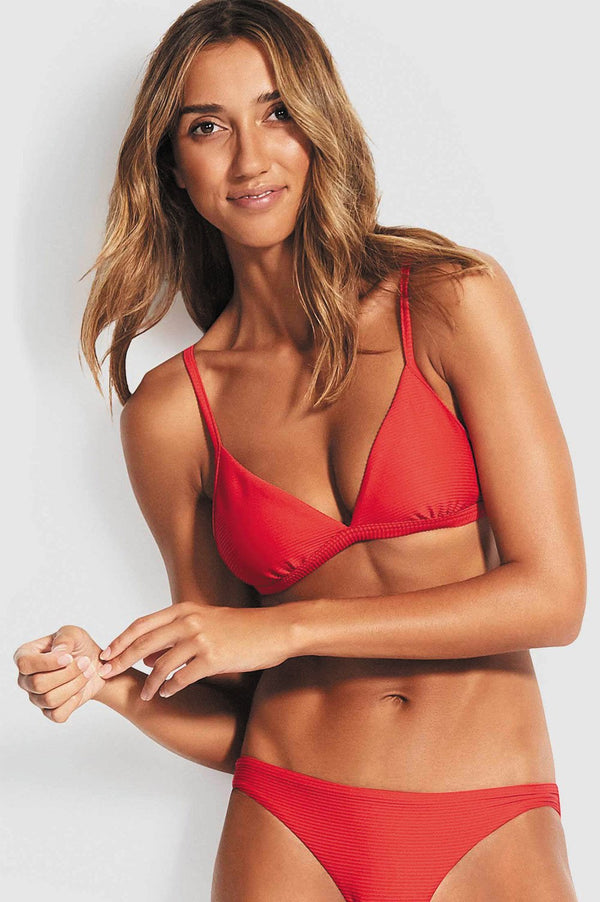 Seafolly Ladies Essentials Fixed Tri Bra - Full