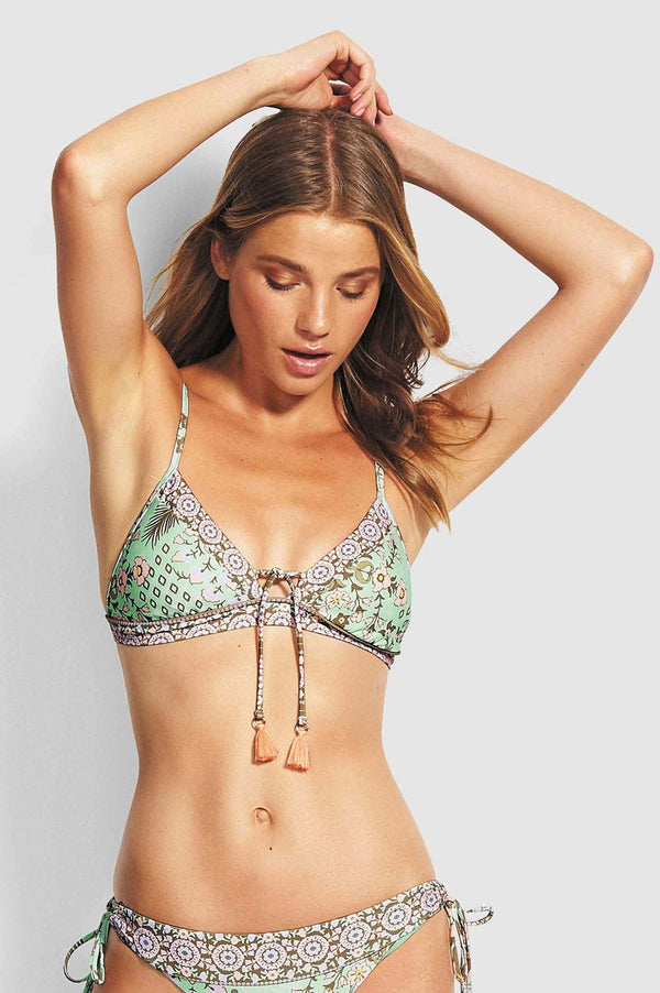Seafolly Ladies Fresh Mint Fixed Tri Bra - Front