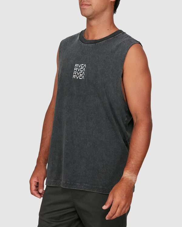 RVCA Mens Puzzle Muscle Tee