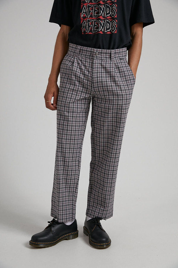 Afends Mens Leverage Check Pant