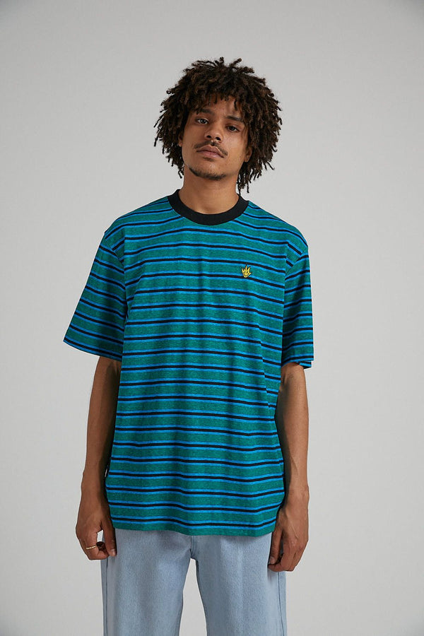 Afends Mens Tyler Stripe Retro SS Tee