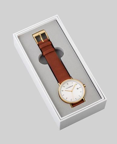 The Horse D-Series Watch- Gold/White/Tan