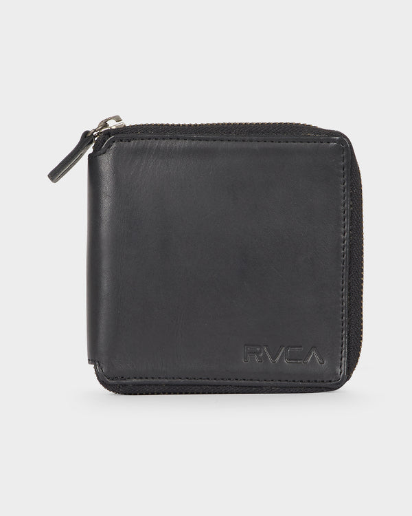 RVCA Mens Executive Zip Wallet