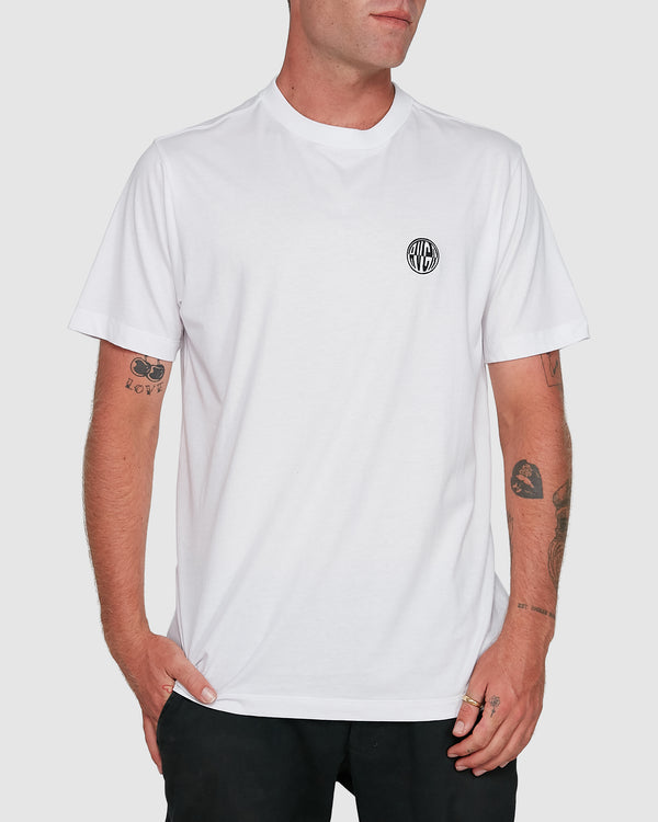 RVCA Mens Rave Ball SS Tee