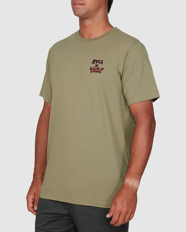 RVCA Mens Red Belly SS Tee