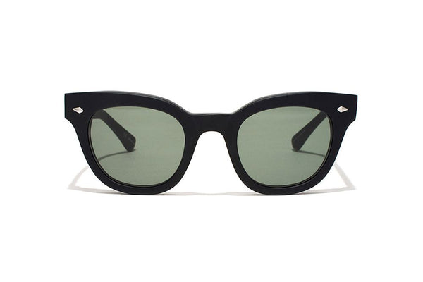 Epokhe Dylan Zero Sunnies- Black Gloss/Green Zero