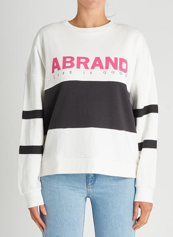 A Brand Ladies A Oversized Panelled Crew