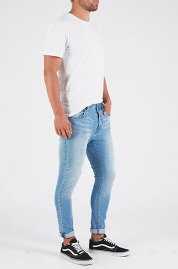 Abrand Dropped Skinny Turn Up Jeans - Front