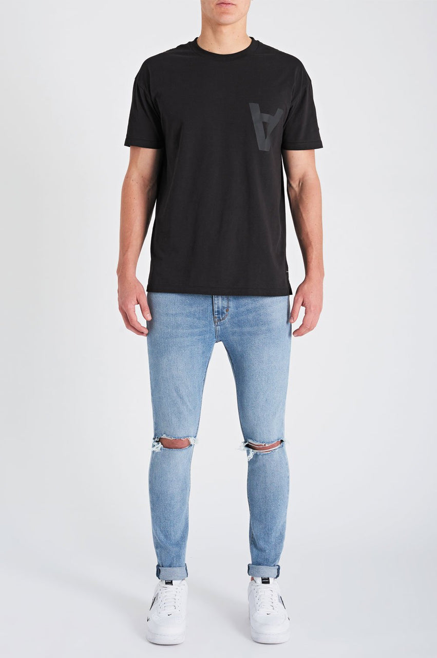 Abrand Mens Dropped Skinny Turn Up - Front